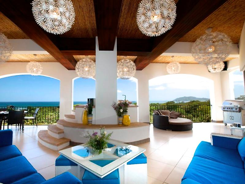 Grand Deck with Panoramic Ocean View - Luxurious Tamarindo / Langosta Penthouse - over 5000sf with Spectacular Ocean Views! - Tamarindo - rentals