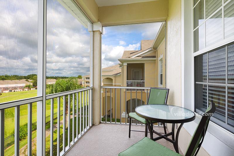 Screened balcony with park views - Palm Vista - Four Corners - rentals