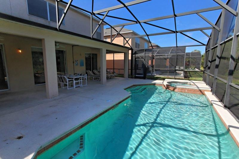 Pool and shaded lanai - All That Jazz - Kissimmee - rentals
