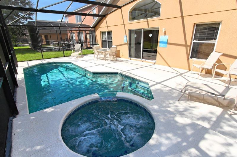 Sun-drenched deck and crystal pool - Shooting Star - Four Corners - rentals
