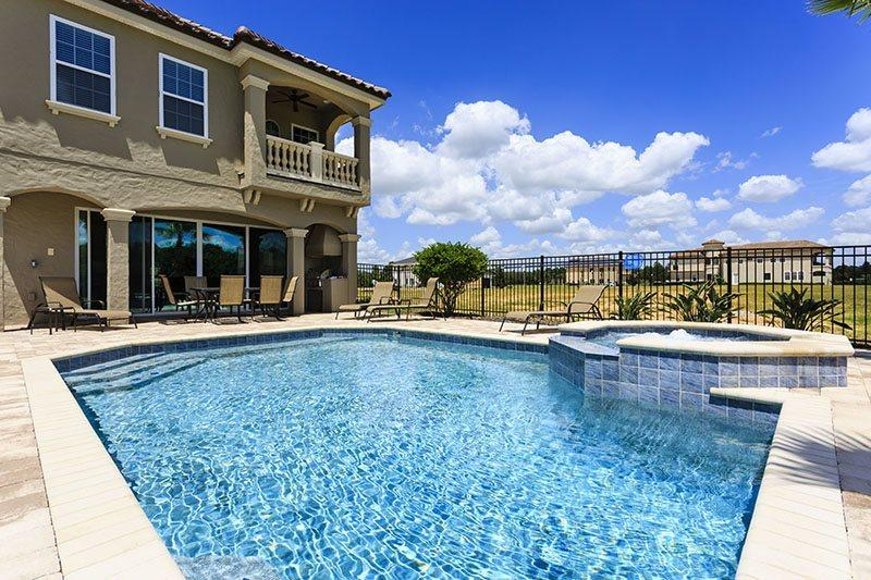 Large 30 x 25 ft pool with spill over spa - Showcase Villa | 5 Bed Pool Home | Reunion Resort - Kissimmee - rentals