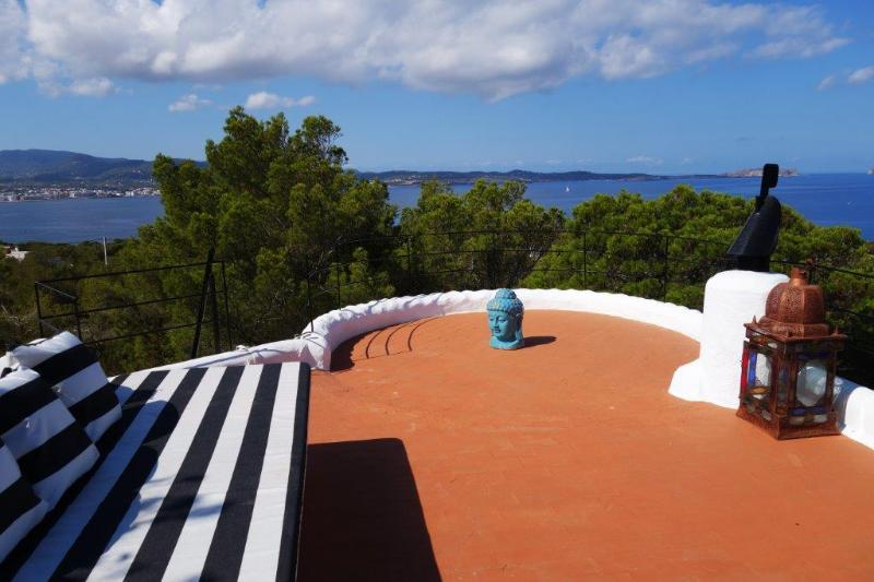 Roof Terrace Veiws across San Antonio Bay - SUNSET SEA COASTLINE Views + POOL near San Antonio - Sant Antoni de Portmany - rentals
