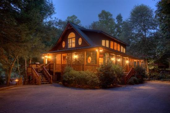 Riverhouse at dusk - Riverhouse - Ellijay GA - Ellijay - rentals