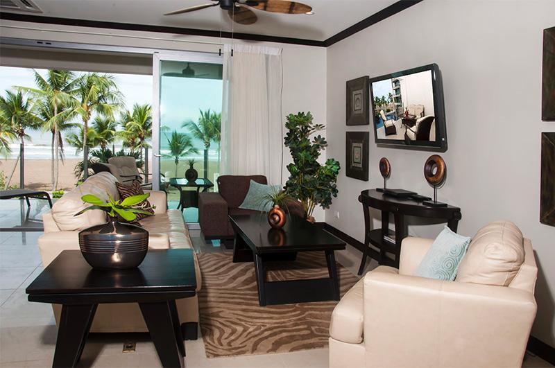 Living area - Diamante del Sol 202S 2nd Floor Ocean View - Jaco - rentals