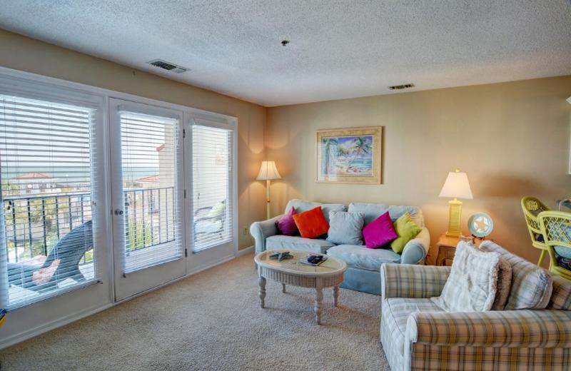 Living Room - Villa Capriani 204-B | Oceanfront! New to the Market in 2012! Newly renovated bedrooms by June 16th! - North Topsail Beach - rentals