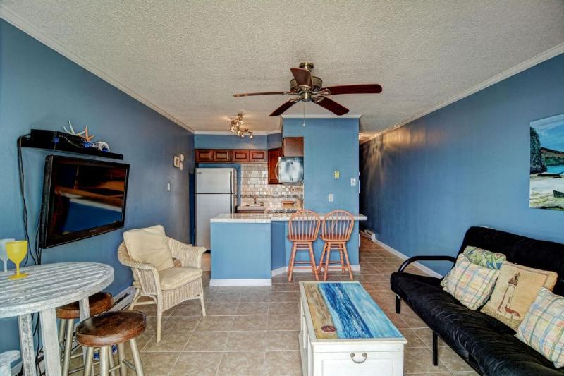 Living/ Dining/ Kitchen Area - Topsail Reef 178 -1BR_6 - North Topsail Beach - rentals
