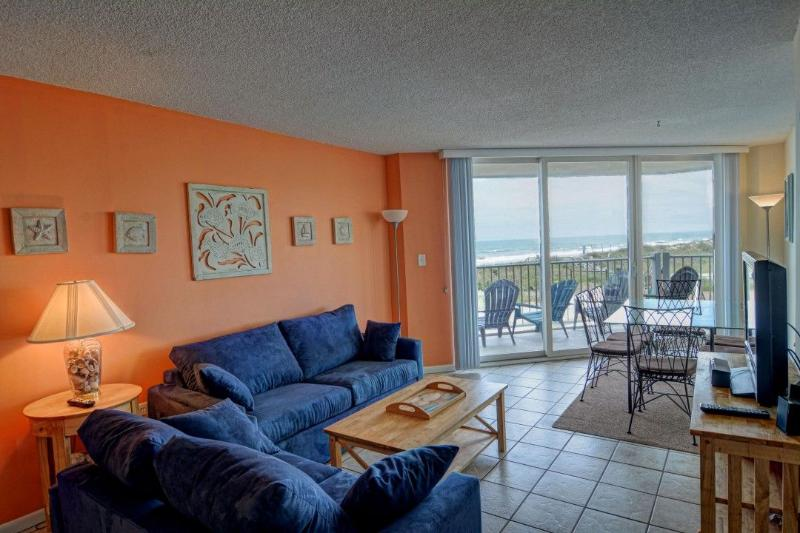 Living Room - St. Regis 1106 Oceanfront! |  Indoor Pool, Outdoor Pool, Hot Tub, Tennis Courts, Playground - North Topsail Beach - rentals