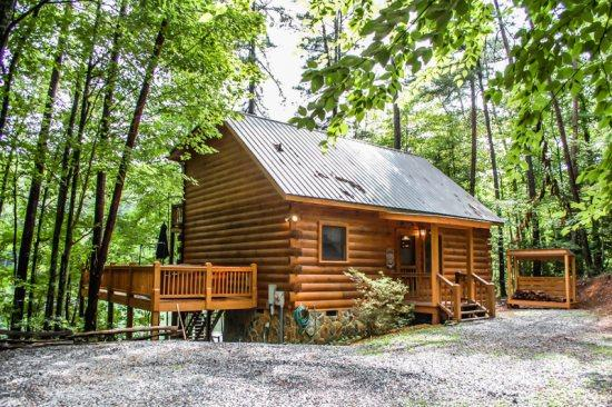 CHERRY ACRE- 2BR/2BA- CHARMING CABIN ON CHERRY LAKE SLEEPS 4, CANOE WITH LIFE VESTS, HOT TUB, PRIVATE DOCK FOR FISHING, FIRE PIT, CHARCOAL GRILL, WOOD BURNING FIREPLACE, SCREENED PORCH, LOCATED ON SECTION 7 OF THE BENTON MACKAYE TRAIL! ONLY $125 A NIGHT! - Image 1 - Blue Ridge - rentals