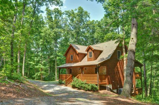 APPALACHIAN PROMISE- 3BR/3.5BA- SECLUDED CABIN SLEEPS 8, MOVIE ROOM, WIFI, POOL TABLE, FOOSBALL, SATELLITE TV, GAS LOG FIREPLACE, HOT TUB ON COVERED PORCH, GAS GRILL, AND A FIRE PIT! ONLY $150 A NIGHT! - Image 1 - Blue Ridge - rentals