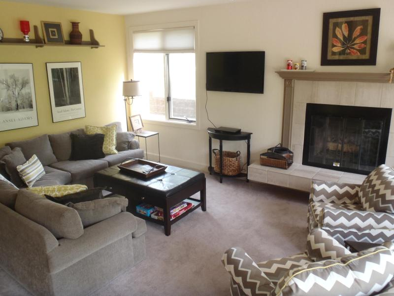 spacious living room with fireplace - great on a chilly day - Sun Vail 11C - Mountain View 3 Bedroom, 2 Bath - Vail - rentals