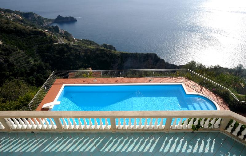 The gorgeous view over the pool and main terrace - VILLA SIGNORI, ideal location, super views & pool - Amalfi - rentals