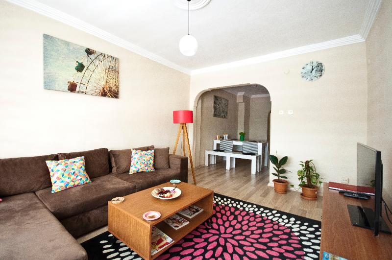 livingroom - ENJOY YOUR HOLIDAY IN MY BIG PLACE IN CITY CENTER - Istanbul - rentals