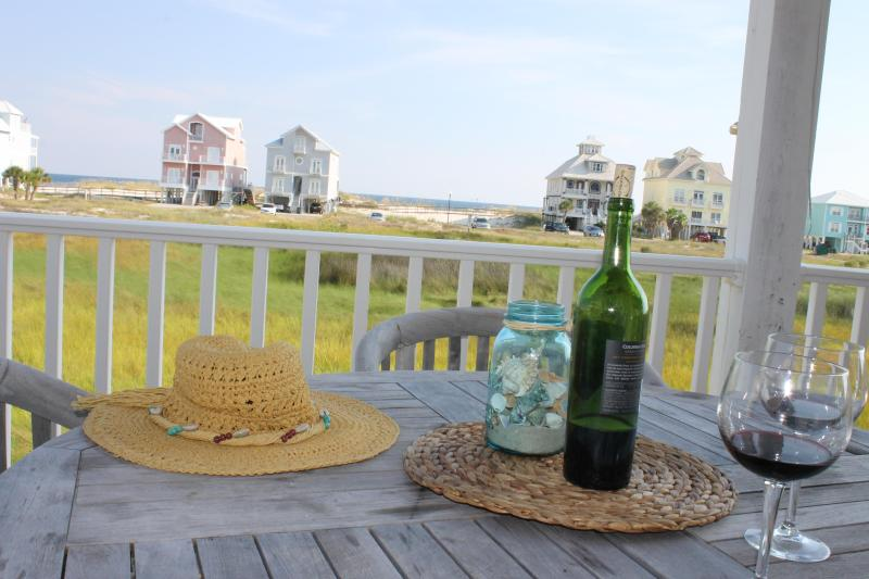View from Main Deck - Shrimp Festival is Oct 8-11, Spacious Home! - Fort Morgan - rentals