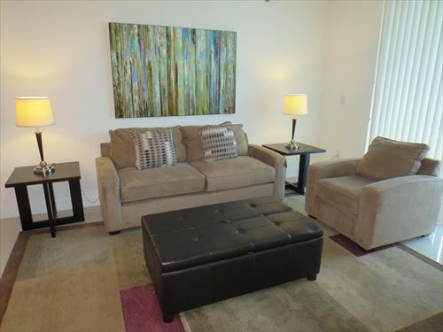 Living room - Lux 1BR Brickell Apt w/FREE Parking - Miami - rentals
