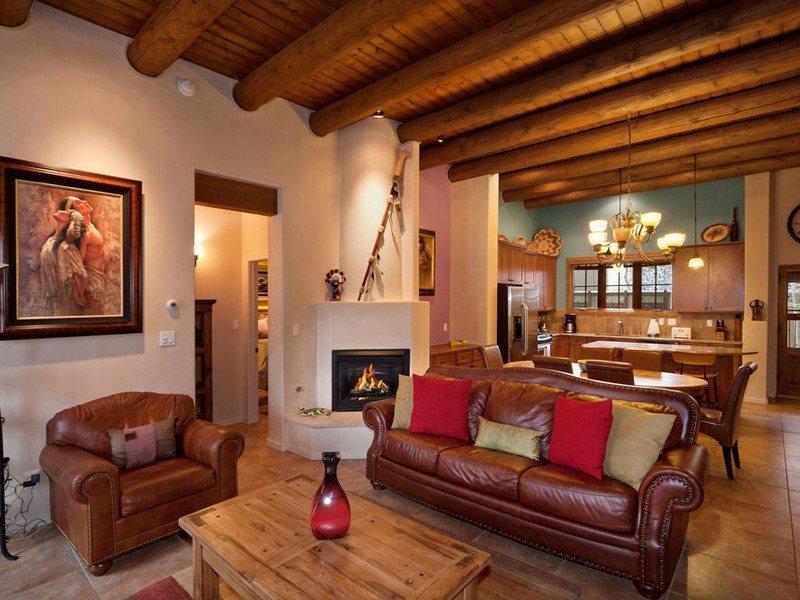 Living Room, gas burning fireplace, queen sleeper - Puerta De Sol - Exquisite - Santa Fe - rentals