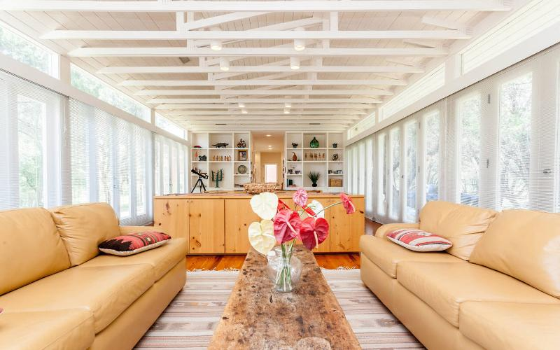 Living Room - Unique Home on the Blanco River in Wimberley - Wimberley - rentals