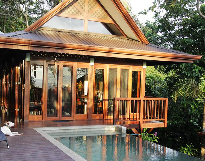 Main living space and pool - Ocean View Villa in Private Jungle - Dominical - rentals