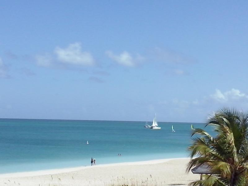 Picture taken on our balcony - The Captain's Suite at Royal West Indies Resort - Providenciales - rentals