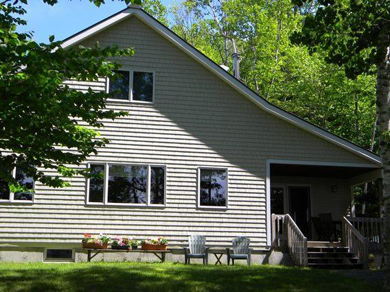 View from lake side of house - Trail's End - Rangeley - rentals
