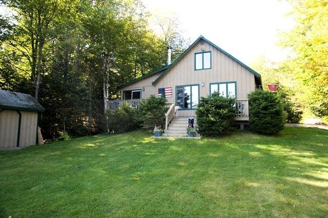 Exterior from lake - Davis - Rangeley - rentals