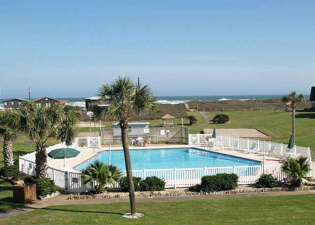 Beachfront condo, 2 pools, pet friendly and in town with gulf views! - Image 1 - Port Aransas - rentals