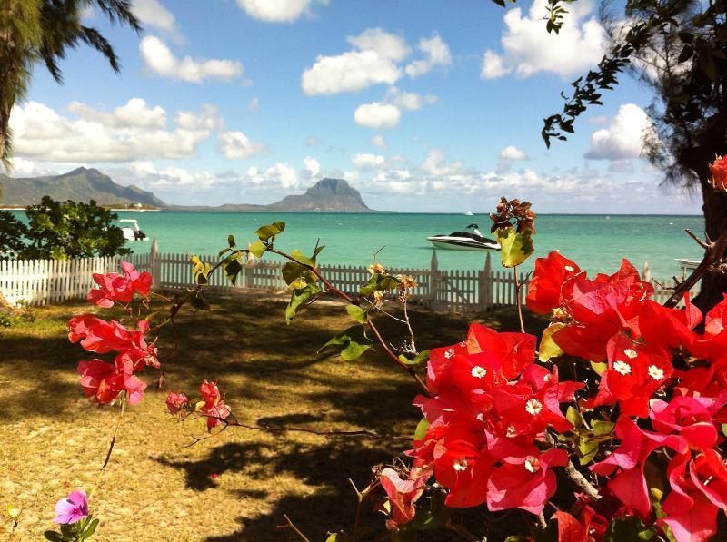 Front garden - Beachfront Villa at La Preneuse West Coast - Tamarin - rentals