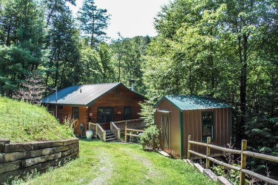 TUCKED AWAY- 2BR/1BA WOODED CABIN, CLOSE TO TOWN, WOODBURNING FIREPLACE, CABLE TV, PET FRIENDLY, ONLY $85/NIGHT! - Image 1 - Blue Ridge - rentals