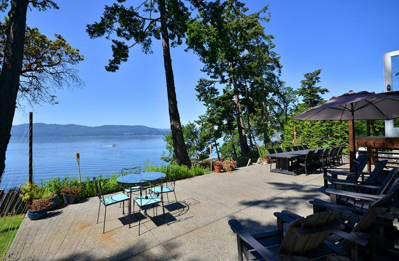 Large patio to enjoy the outdoors - Victoria Area Deep Cove Ocean Front 5 Bedroom Private Vacation Home - North Saanich - rentals