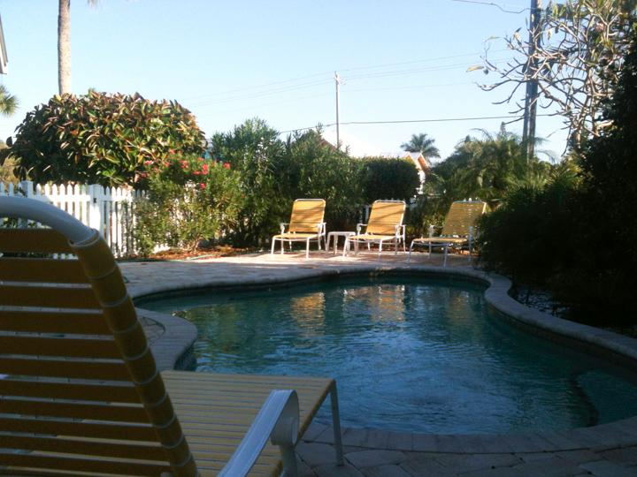 The pool is ready to welcome you - Pool Beach House - Quietest place on Anna Maria - Holmes Beach - rentals