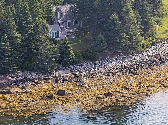 Deep Cove Cottages from the air - August 2014 - DEEP COVE COTTAGES - Town of St George - Saint George - rentals