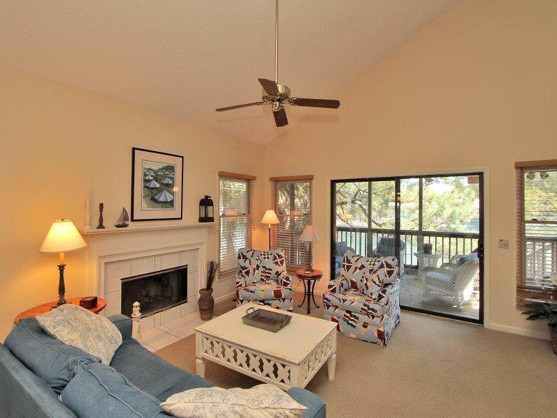 Living Room at 6 Beachside - 6 Beachside - Sea Pines - rentals