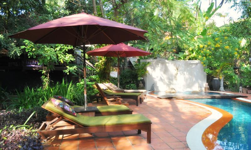 Jungle pool and garden area - River Garden Deluxe Balcony rooms - Siem Reap - rentals