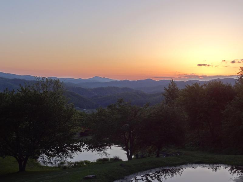 View the magnificent sunsets from the porch - Long Range, Layered Views Overlooking 2 Ponds - Boone - rentals