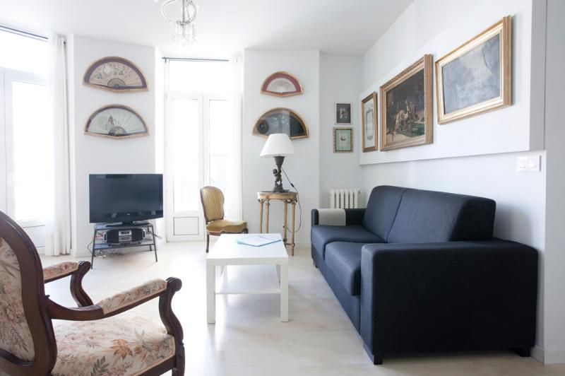 Living room - Stylish with sea views central near the beach WIFI - San Sebastian - Donostia - rentals