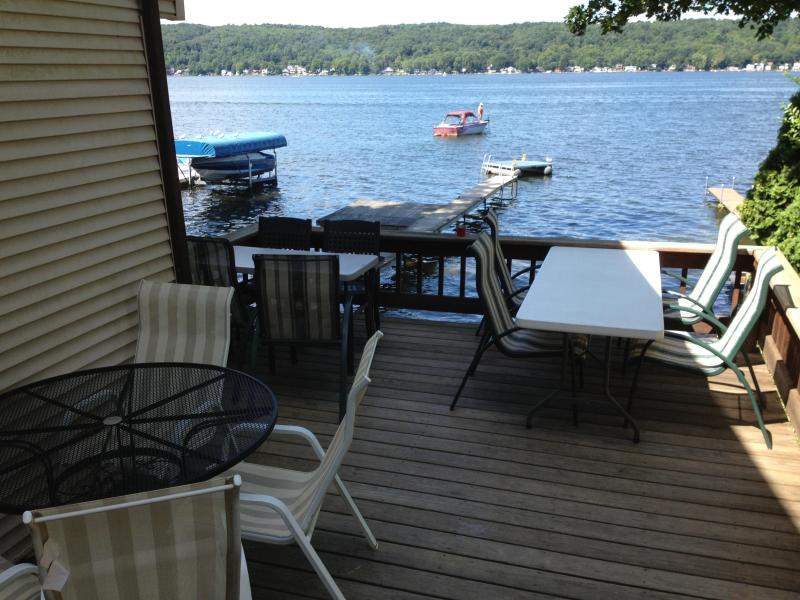 Lake View From Deck - Conesus Lake, NY  5 Bedroom Lake House - Conesus Lake - rentals