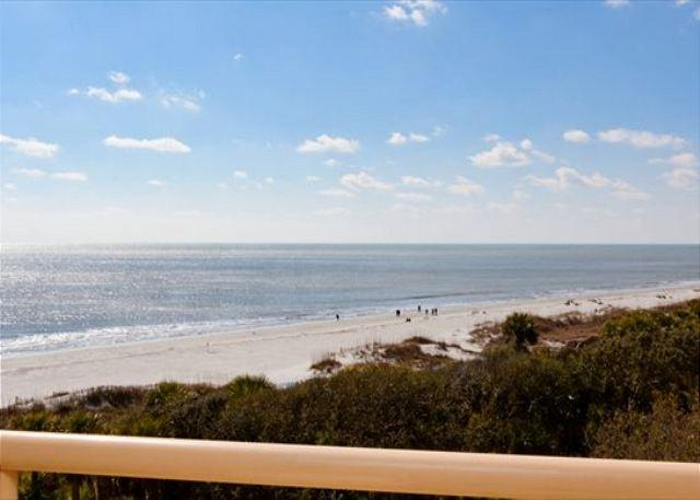 Balcony View - 2BR/2BA Oceanfront Villa has Spectacular Views of the Ocean and Beach - Hilton Head - rentals