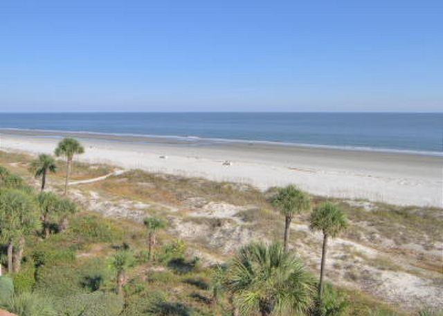 Balcony View - Incredible Oceanfront View from 5th Floor Direct Oceanfront 2BR/2BA Villa - Hilton Head - rentals