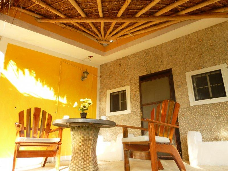 Terrace of the Lodge at Hacienda Antigua - The Lodge in el Cuyo at Hacienda Antigua - El Cuyo - rentals