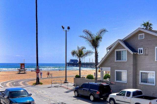 Beach View from Balcony! This is your view all day long. - Sept Spec $350/Night Ocean View Condo with A/C! - Newport Beach - rentals