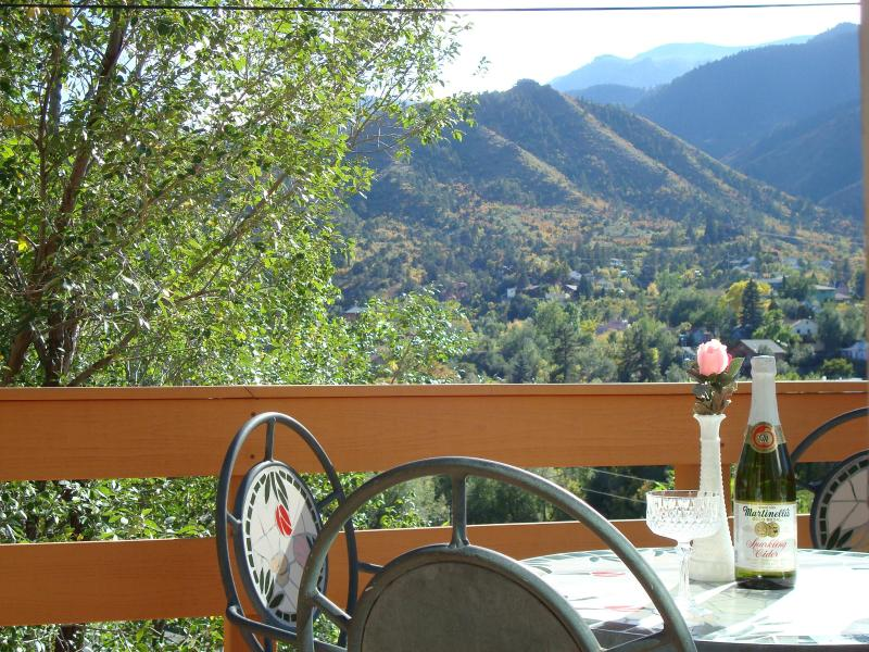 THIS IS YOUR VIEW FROM THE DECK - PIKES PEAK CABIN BY GARDEN OF THE GODS - Manitou Springs - rentals