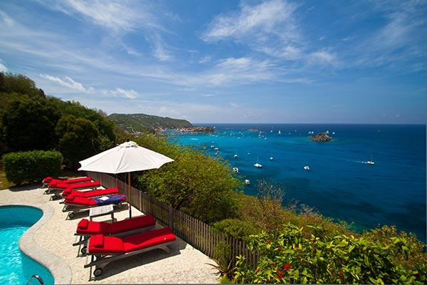 Private family villa high in Colombier with superb views of Gustavia Harbor WV DAN - Image 1 - Colombier - rentals