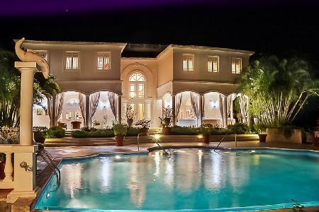 Bohemia - Elegant villa boasts stunning ocean views, marble floors, piano & 50 ft horizon pool - Image 1 - Sandy Lane - rentals