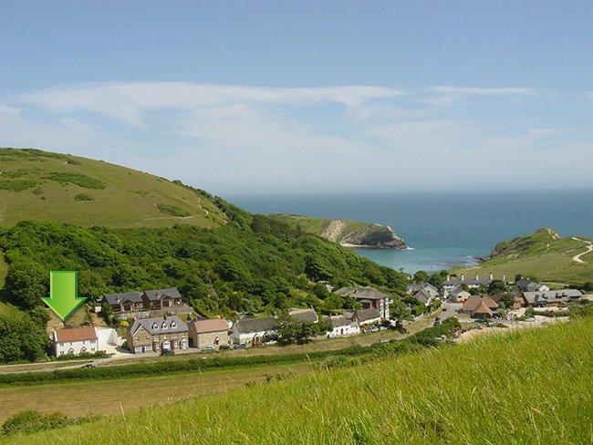 View towards the property and Lulworth Cove - TESSC - Dorset - rentals