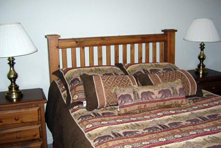 Queen bed  Bedroom 1 - Townhouse 122B - Grayling Creek - West Yellowstone - rentals