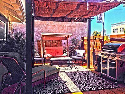 Southern California patio is a great way to start your morning! - Trendy 3BR Home near DTSD and Trolley Station - Pacific Beach - rentals