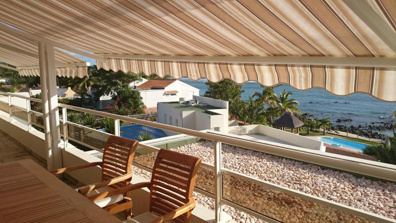 Tamarin Beach Apartments Mauritius: Terrace view from living room before sunset - 12, Tamarin Beach Apartments Mauritius - Tamarin - rentals