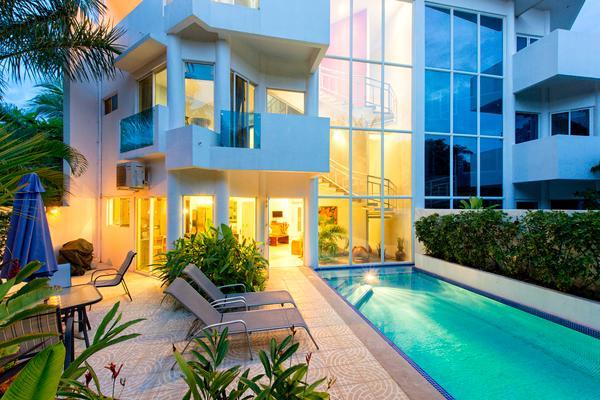 Pool and garden view back of house - Casa Vista del Mar - Tamarindo - rentals
