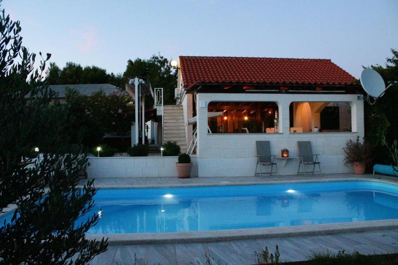 south side of the house- swimming pool - House Marija, Seget Gornji, near Trogir - Trogir - rentals
