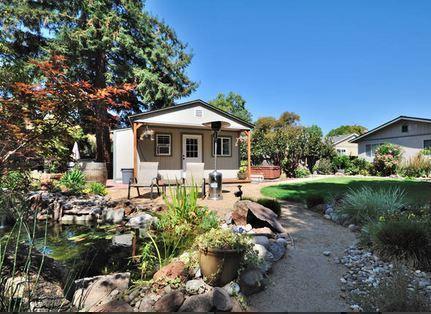Front from pond view - Novato Garden Cottage - Novato - rentals
