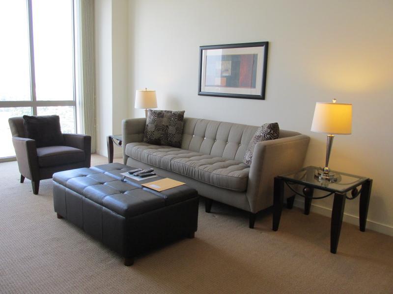 Living room - Lux 1 BR Apt at Reston Town Center - Reston - rentals